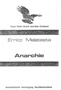 Errico Malatesta - Anarchie