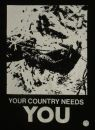 CRASS - your country needs you - Aufnäher