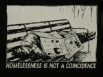 homelessness is not a coincidence - Aufnäher