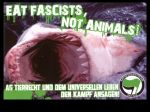 EAT FASCISTS NOT ANIMALS! - Aufkleber