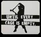 UNTIL EVERY CAGE IS EMPTY - PVC-Aufkleber
